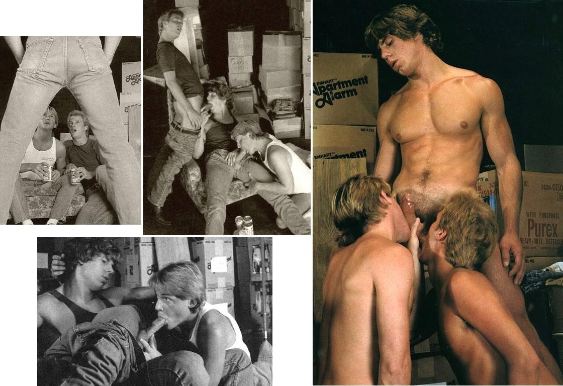 Michael Christopher bareback fuck Mike Dean Rick Kennedy vintage gay hot daddy dude men porn Best Little Warehouse in LA