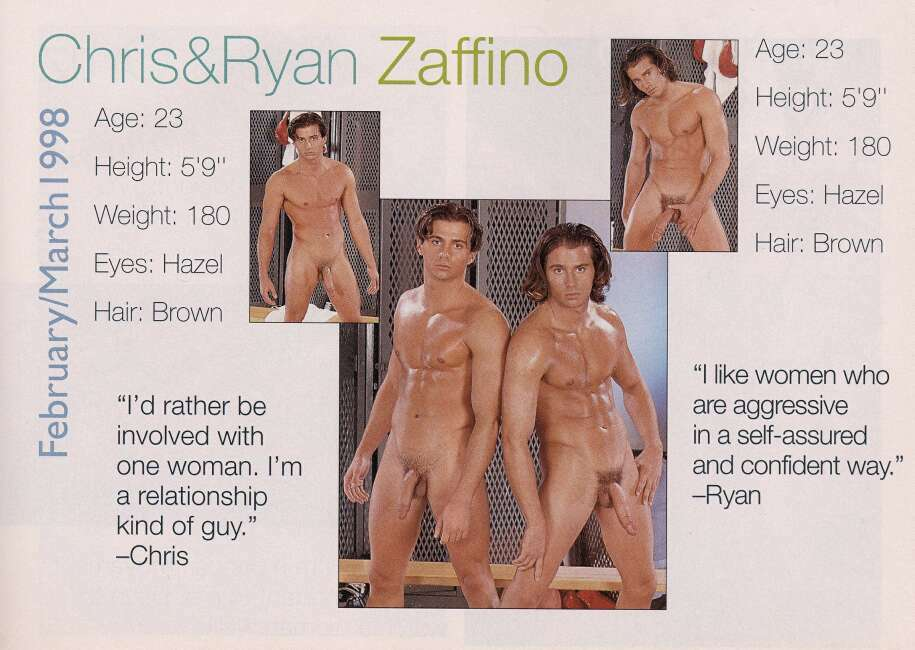 Chris and Ryan Zaffino twin hot dude daddy men porn Playgirl