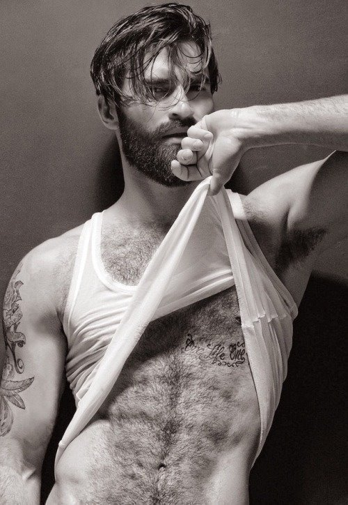 Hot rugged muscular men with armpits