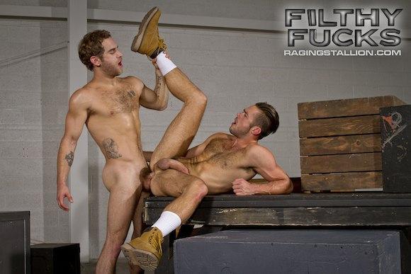 Shawn Wolfe fuck Mike DeMarko gay hot daddy dude porn Filthy Fucks
