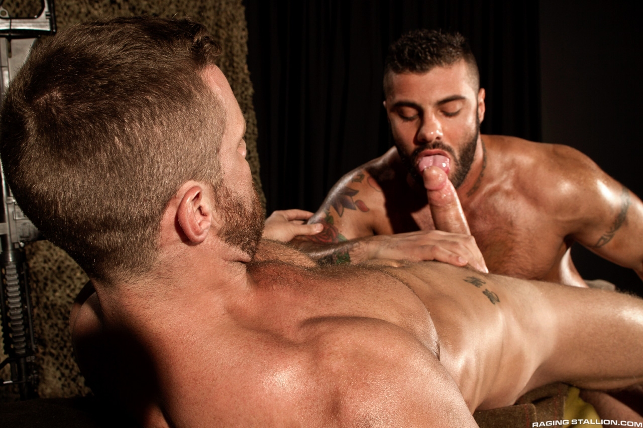 Landon Conrad Alex Marte flip fuck gay hot daddy dude porn Militia