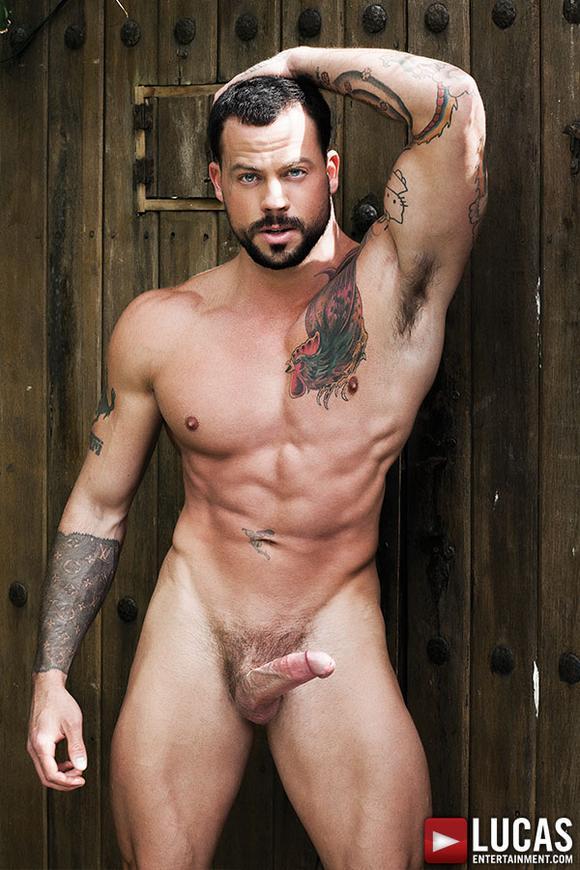 Pedro Andreas bareback fuck Sean Duran gay hot daddy dude porn Ink Sweat Cum