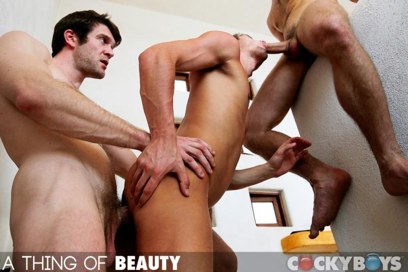 Colby Keller Gabriel Clark JD Phoenix threeway fuck gay hot daddy dude men porn Thing of Beauty