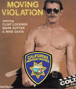 Clint Lockner bareback fuck Mike Davis Mark Rutter vintage gay hot daddy dude men porn Moving Violation