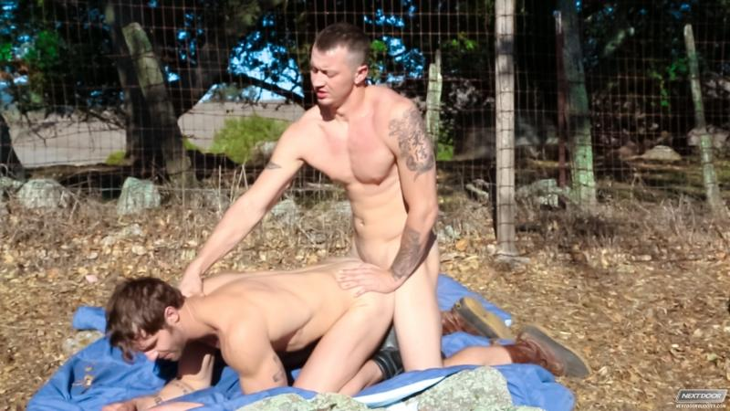 Mark Long bareback fuck Christian Cayden gay hot daddy dude men porn Next Door