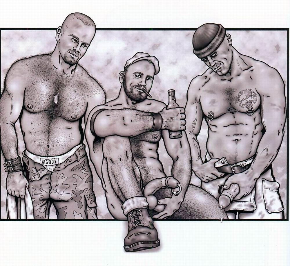 gay hot daddy dude men porn art
