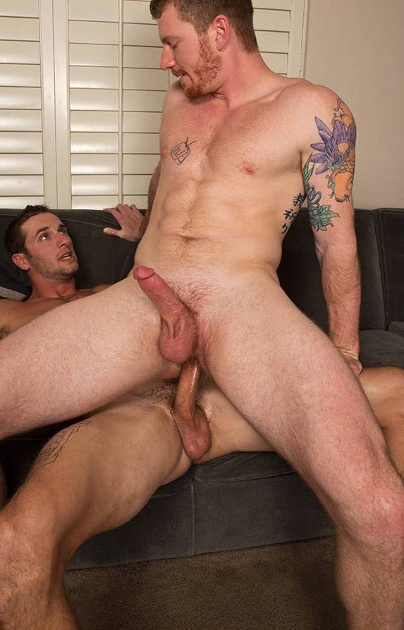Peter bareback flip fuck David gay hot daddy dude men porn Sean Cody