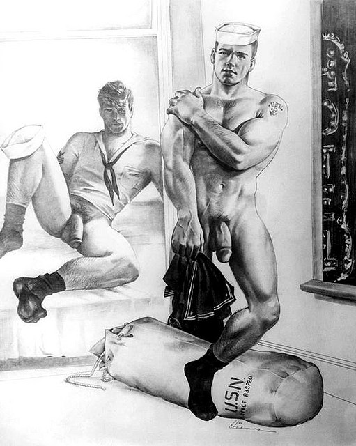 Etienne (Dom Orejudos) gay erotic vintage military daddy dude men porn art