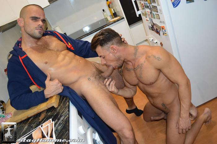 Damien Crosse bareback fuck Sergyo Caruso gay hot daddy dude men porn When Stags Breed