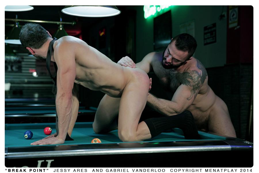 Jessy Ares fuck Gabriel Vanderloo gay hot daddy dude men porn break point