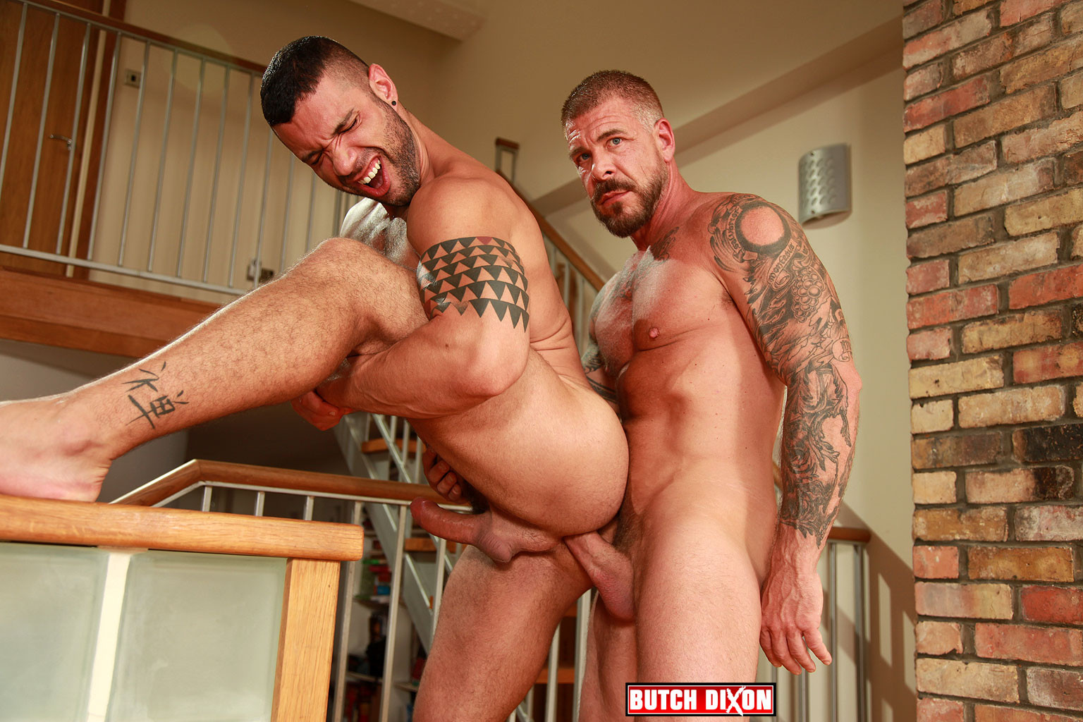 Rocco Steele bareback fuck Letterio Amadeo gay hot daddy dude men porn
