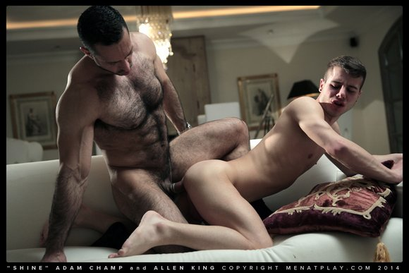Adam Champ fuck Allen King gay hot daddy dude men porn shine