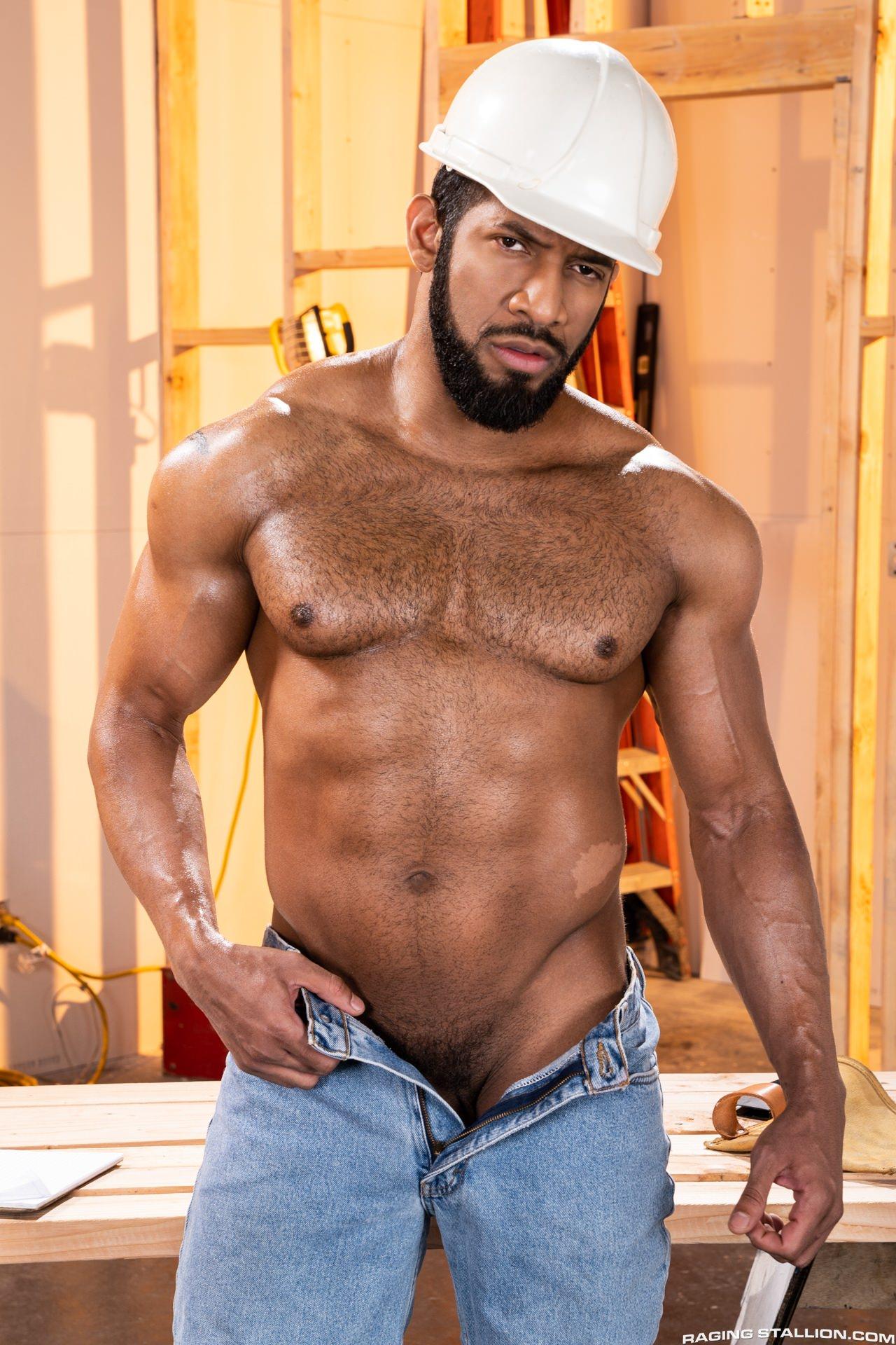 Jay Landford raw fuck Derek Bolt gay hot daddy dude men porn bear Raw Construction