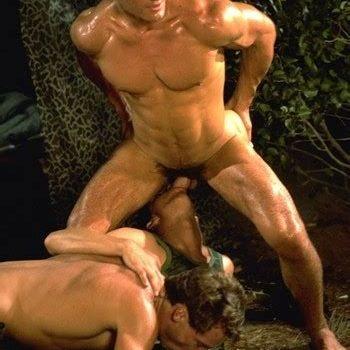 Mike Henson bareback fuck Jeff Quinn Rocky Armano vintage gay hot daddy dude men porn Hot Rods