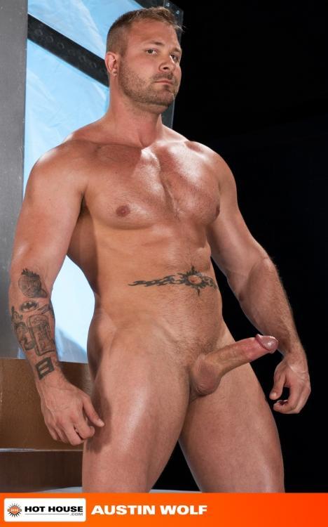 Austin Wolf fuck Chris Bines gay hot daddy dude men porn Monumental Ass