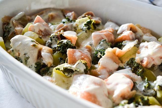 Lachs - Kartoffel - Spinat - Auflauf