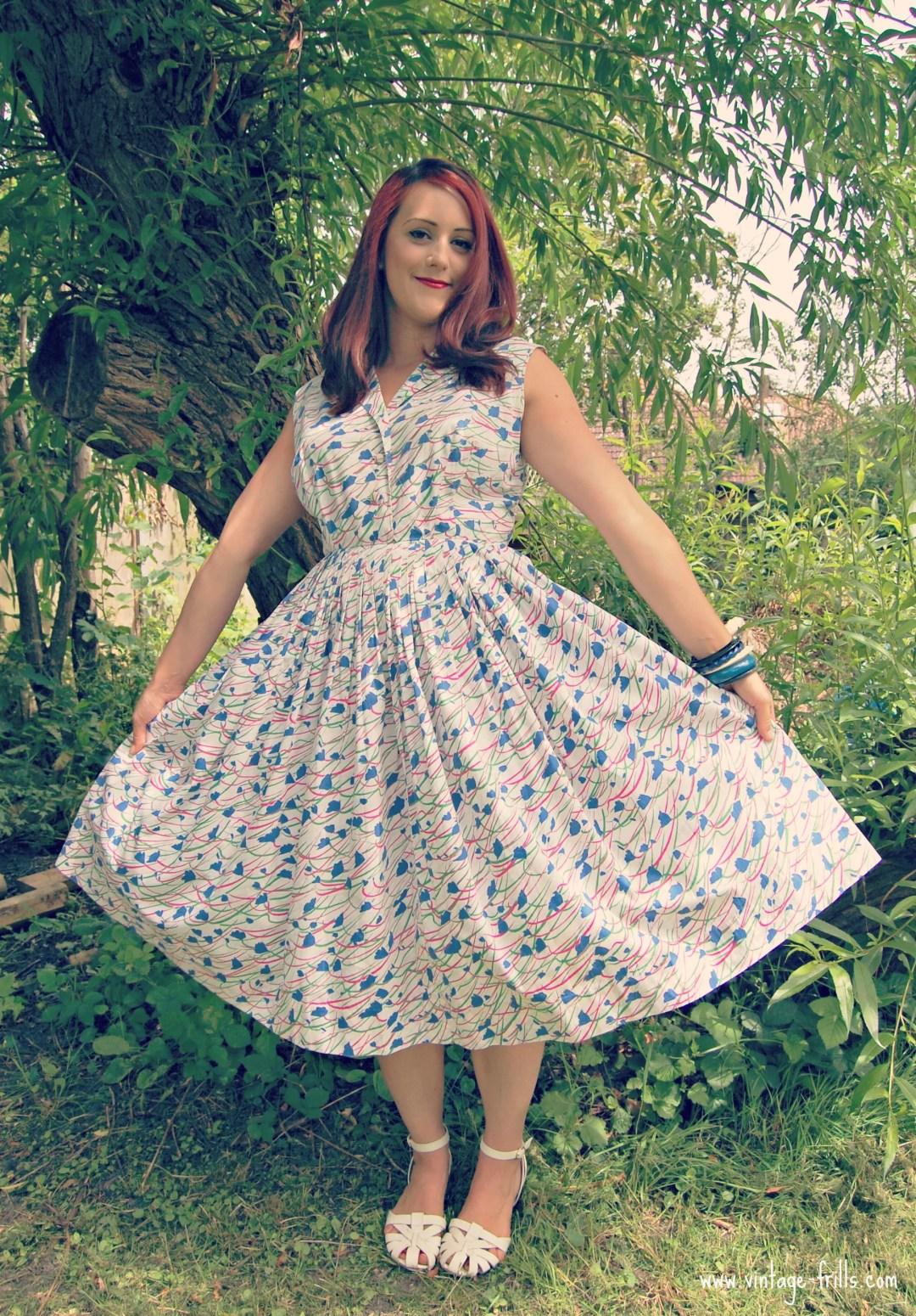 50s, 1950s, Shirt Dress, Shirt-waister,  Judy's Vintage Fair