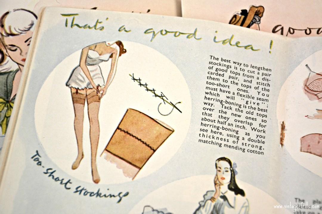 Making Vintage Stockings Longer