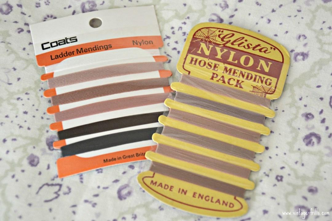 Vintage Nylon Stocking Repair Thread