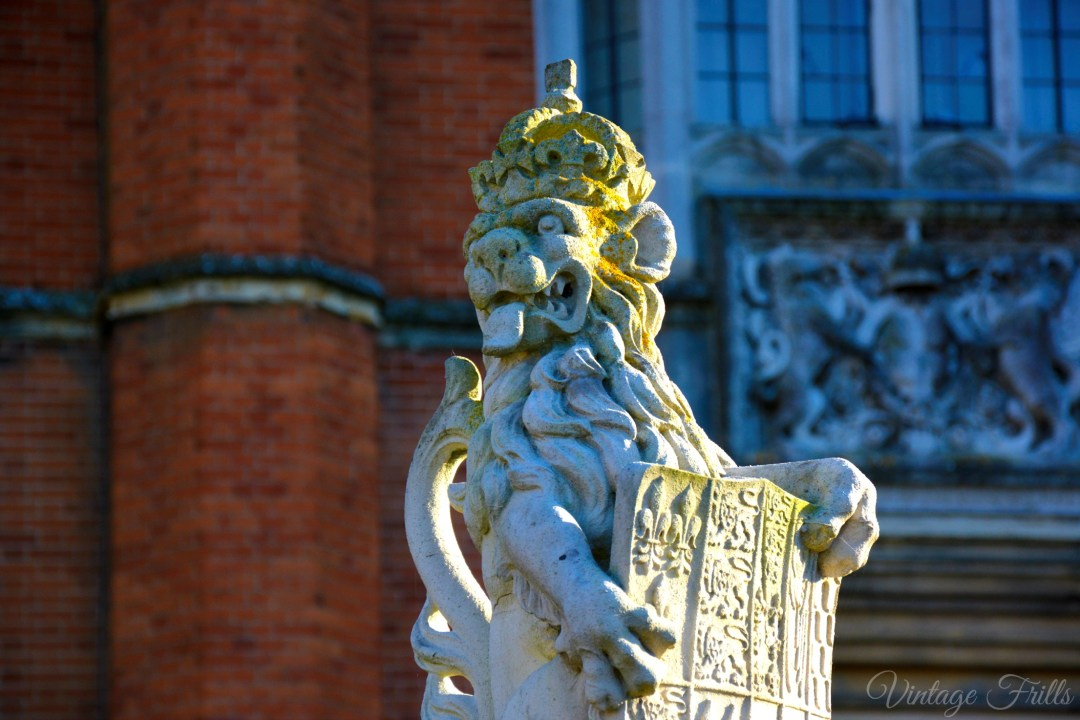 Hampton Court Lion Statue