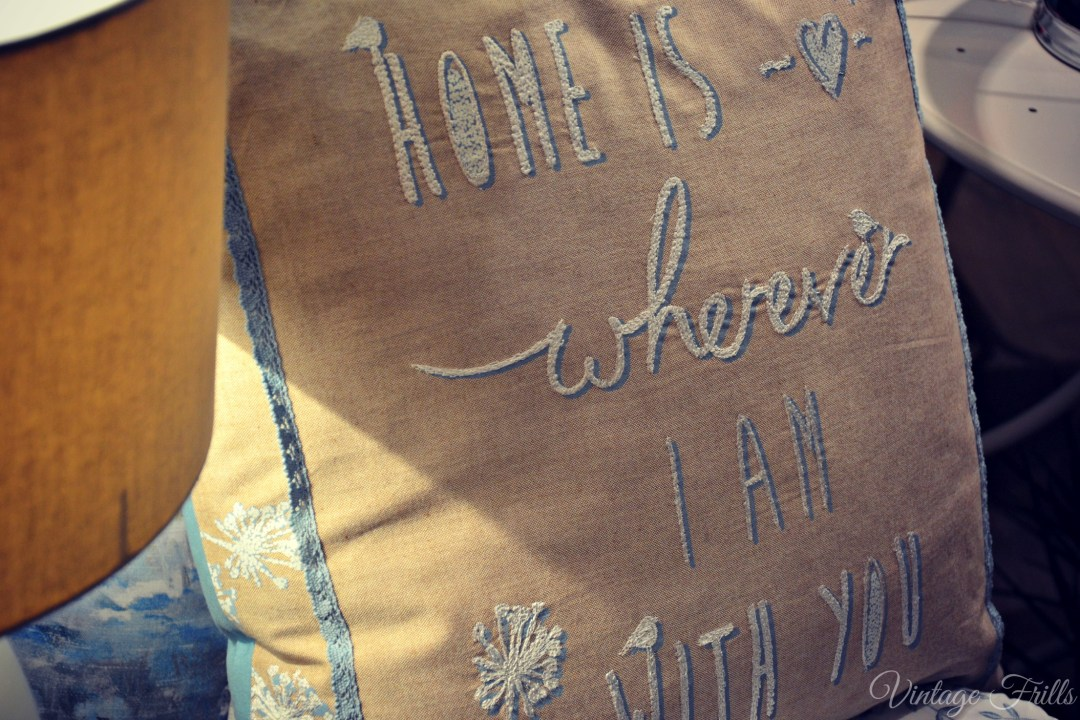 Next Summer 15 Press Day Home is Wherever  I am With You Cushion