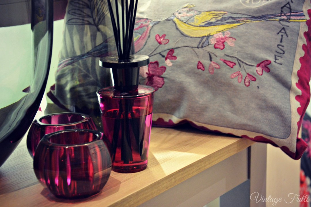 Next Summer 15 Press Day Pink Vases and Embroidered Bird Cushion