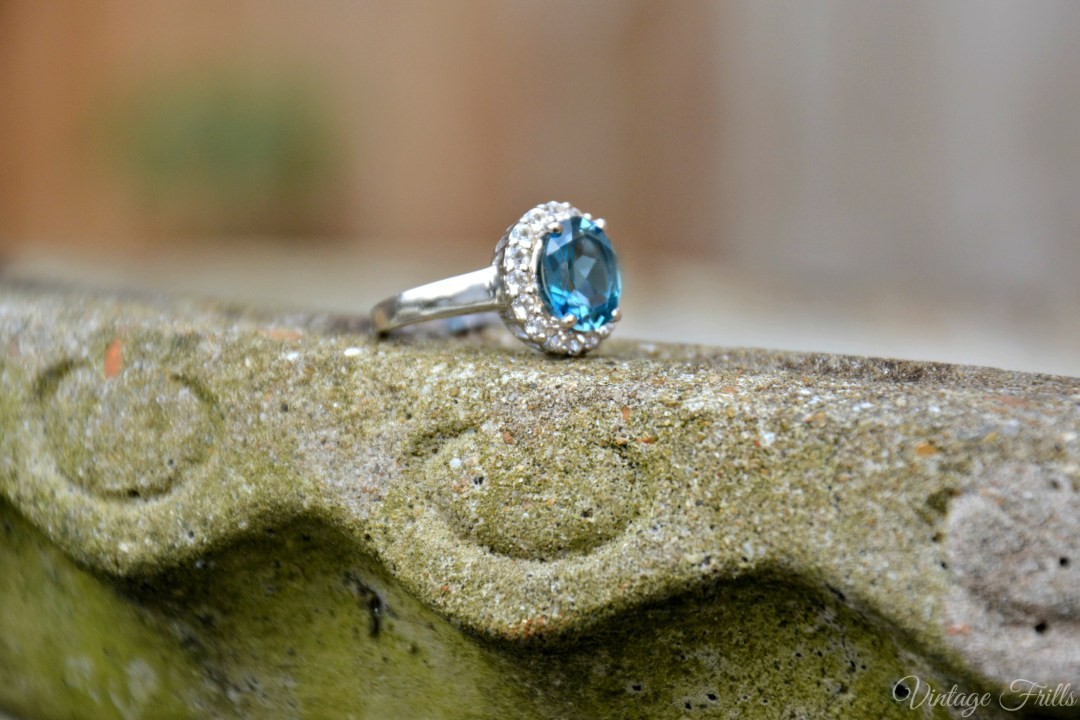Vintage Style London Blue Topaz Ring