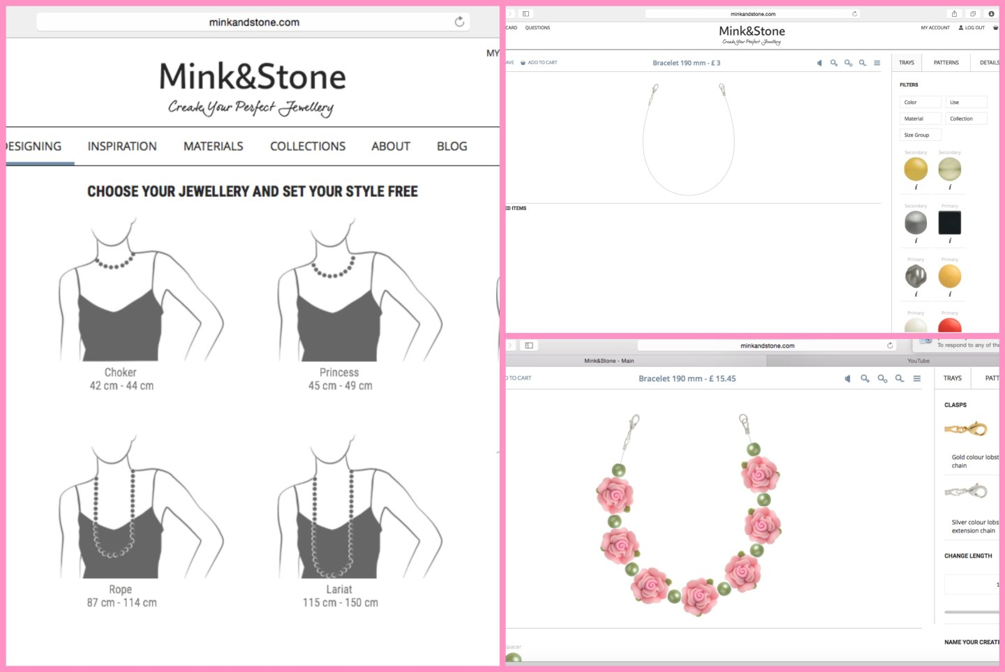Mink and Stone jewellery design