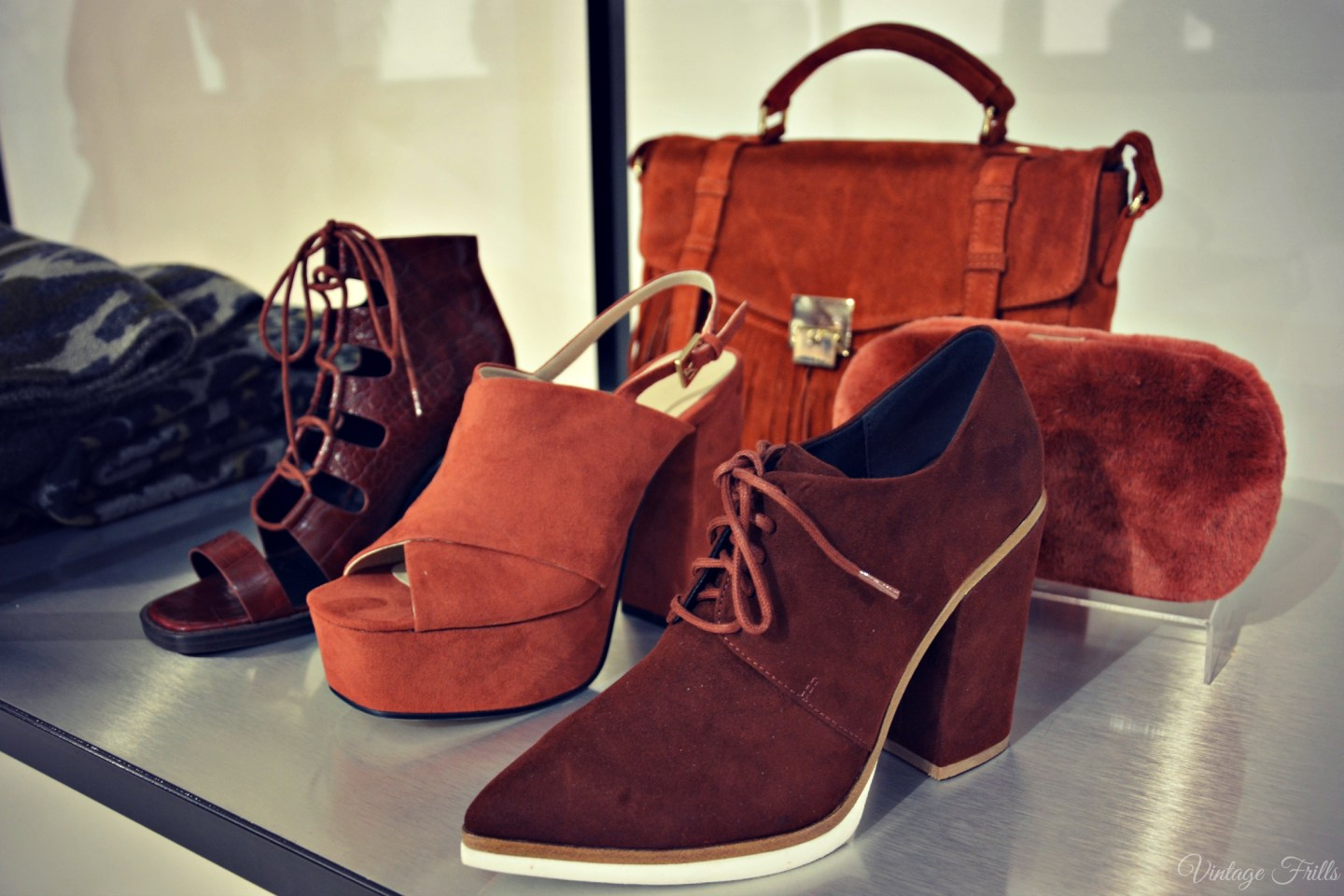 ASOS AW15 Press Day Brown 70s Style Platform Shoes