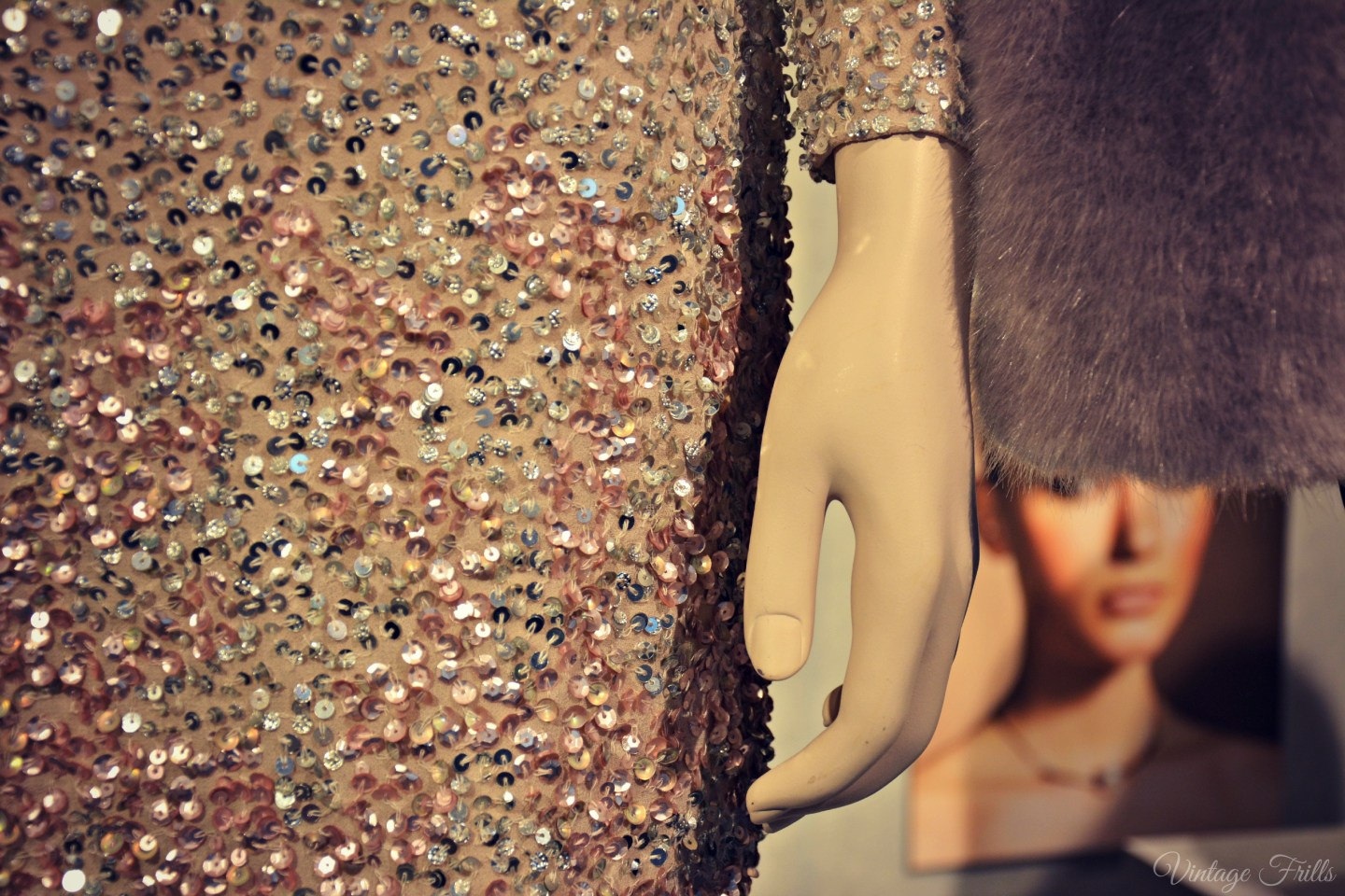 Coast AW15 Press Day Sequin Dress Detail