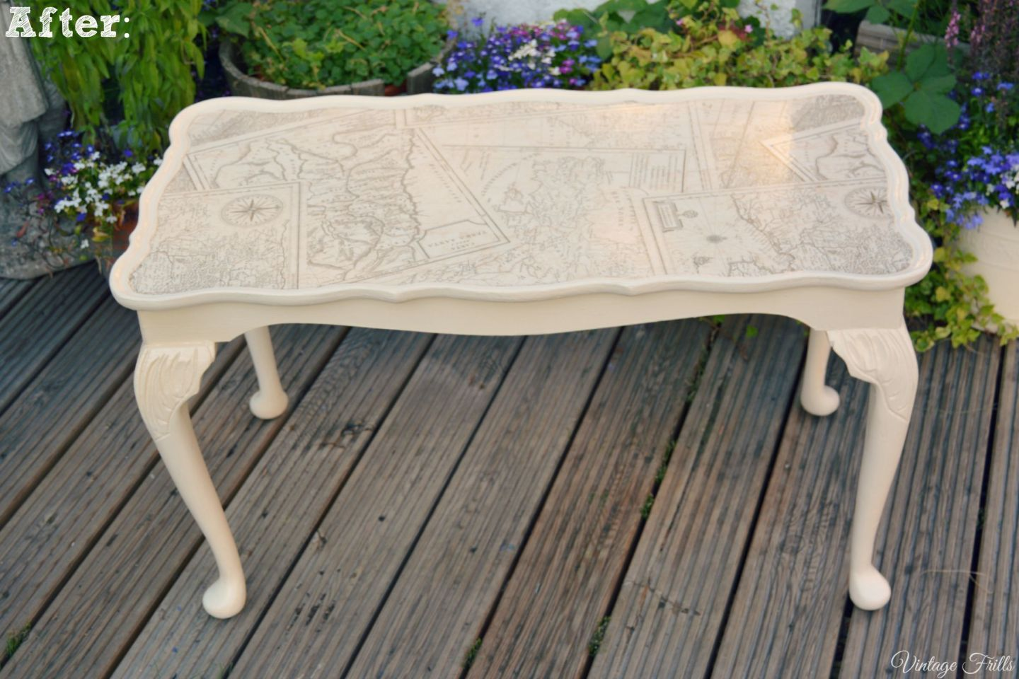 Map Coffee Table Upcycle  Vintage Frills