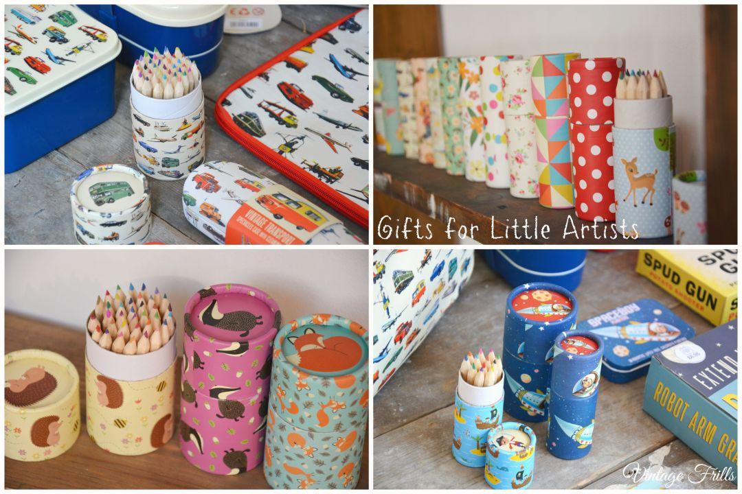Retro Pencil Sets Kids Stocking Fillers Dot Com Gift Shop  Vintage Frills