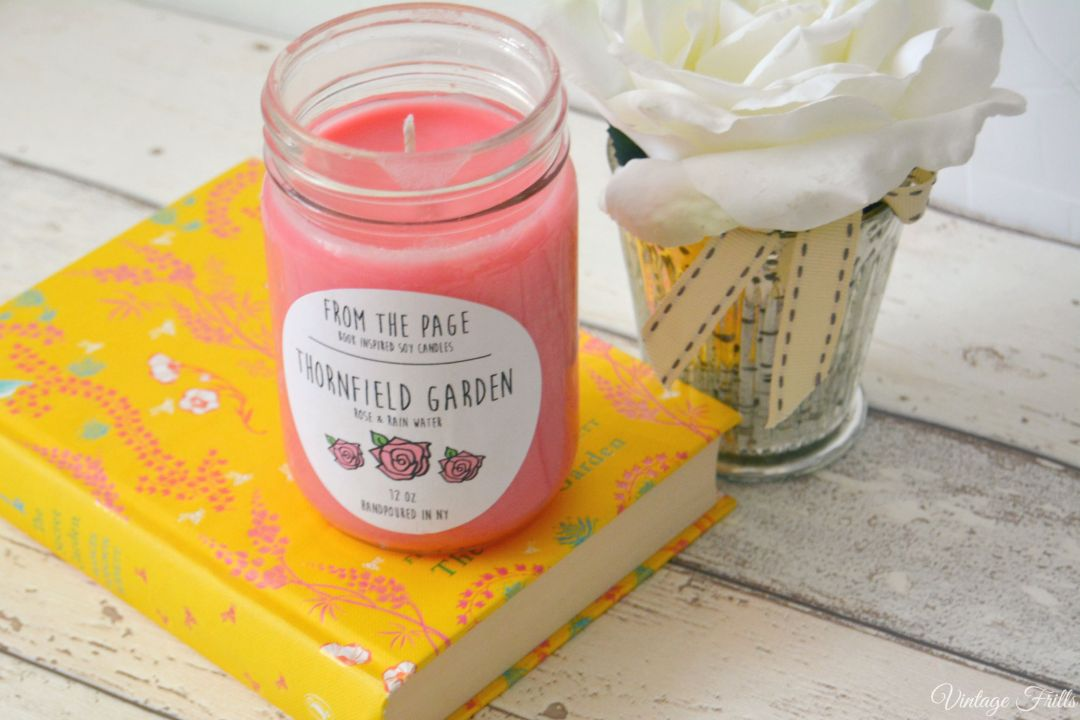 Jane Eyre Candle  From the Page  Uncommon Goods  Vintage Frills