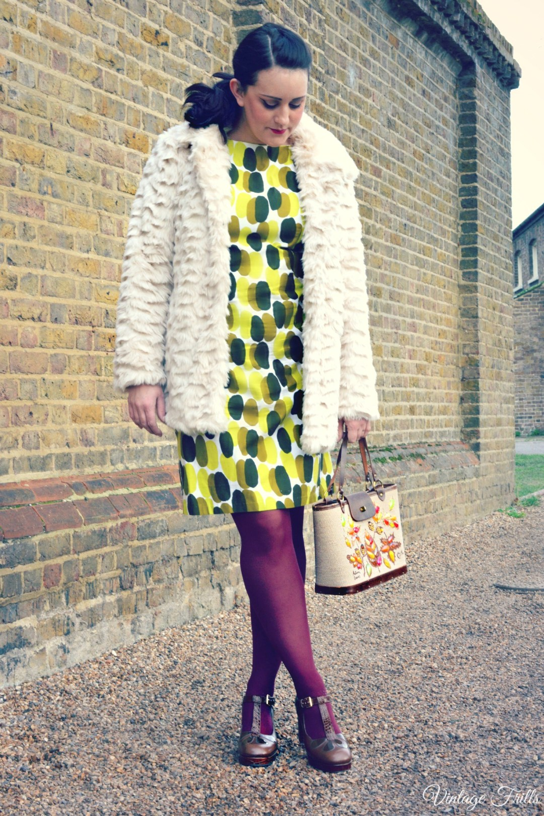 1960s outfit of the day - Clarks Orla Kiely Abigail shoes