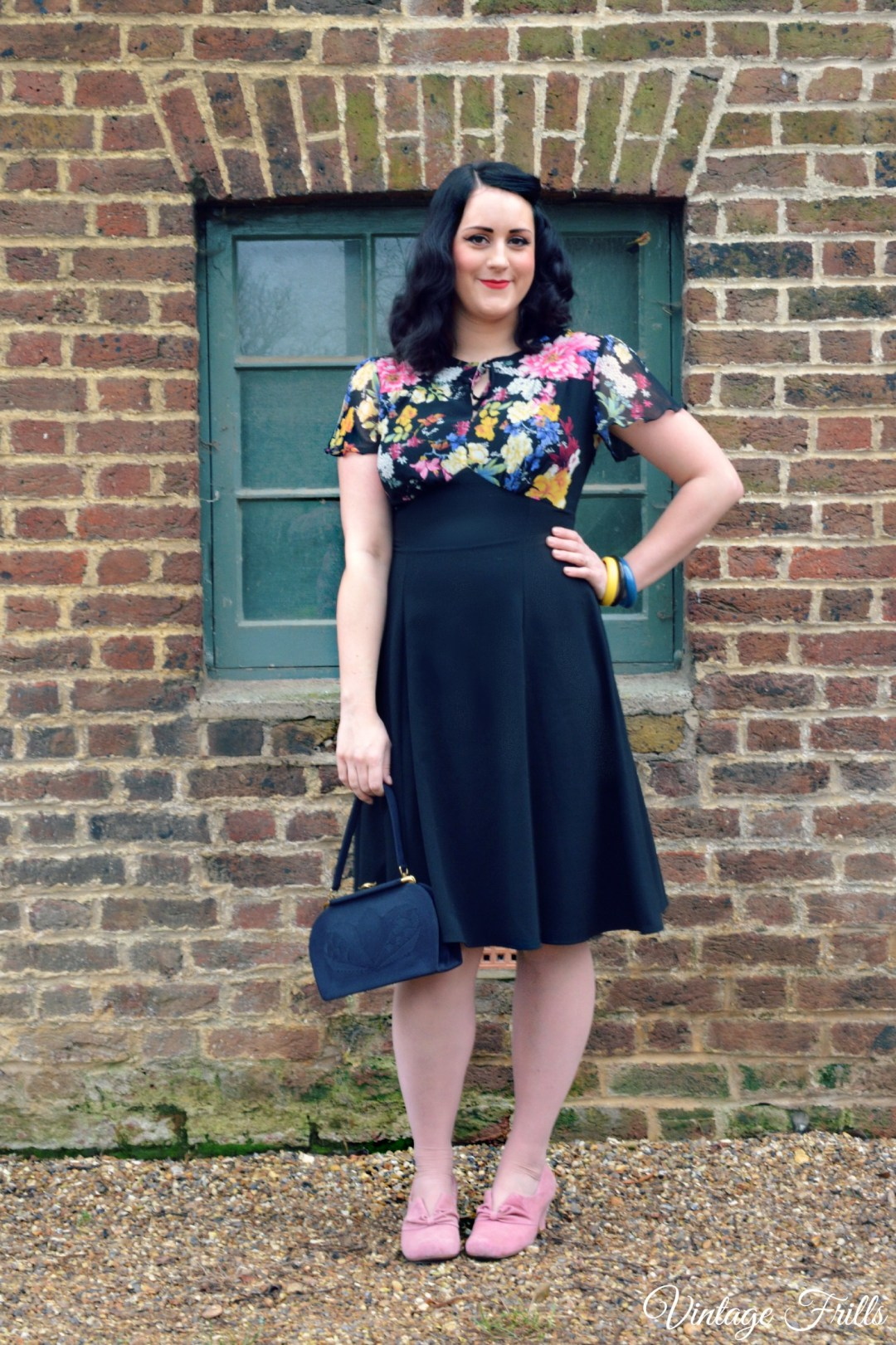 20th Century Foxy Grable Peony Dress