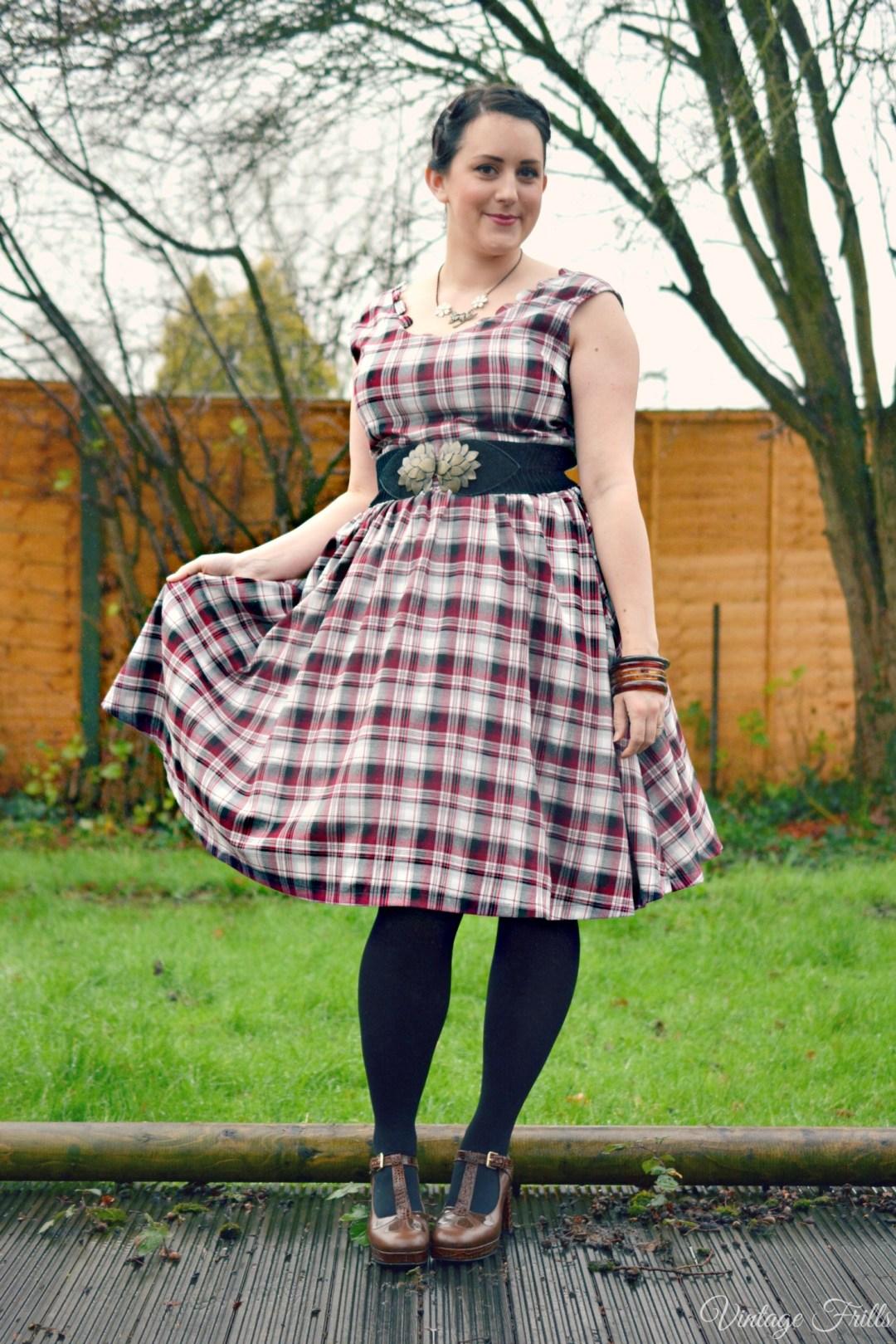 Lindy Bop Daria Dress Tartan