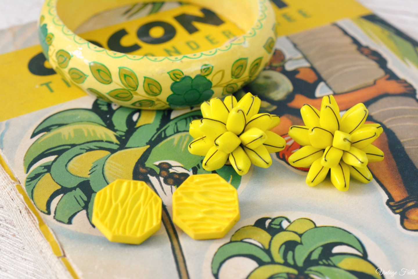 Yellow Vintage Banana Jewellery