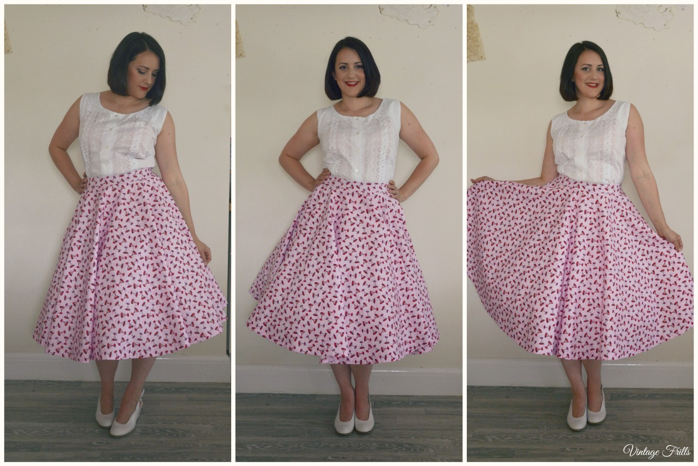 Lindy Bop Cocktail Glass Skirt
