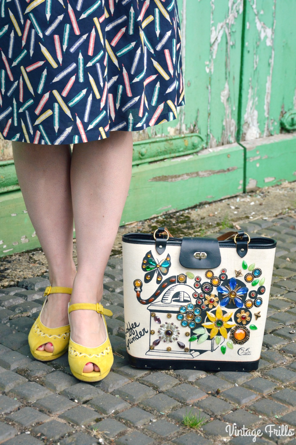 Octer Cath Kidston Skirt Enid Collins Bag and Miss L Fire Shoes
