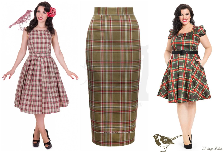 vintage-style-tartan-dresses