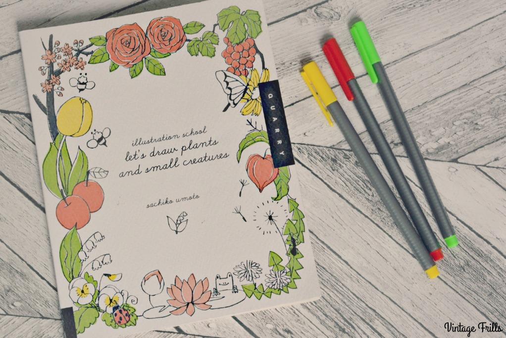 Illustration School - Lets Draw Plants and Small Creatures Sachiko Umoto
