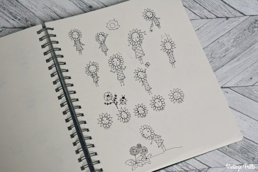Illustration School Sunflower