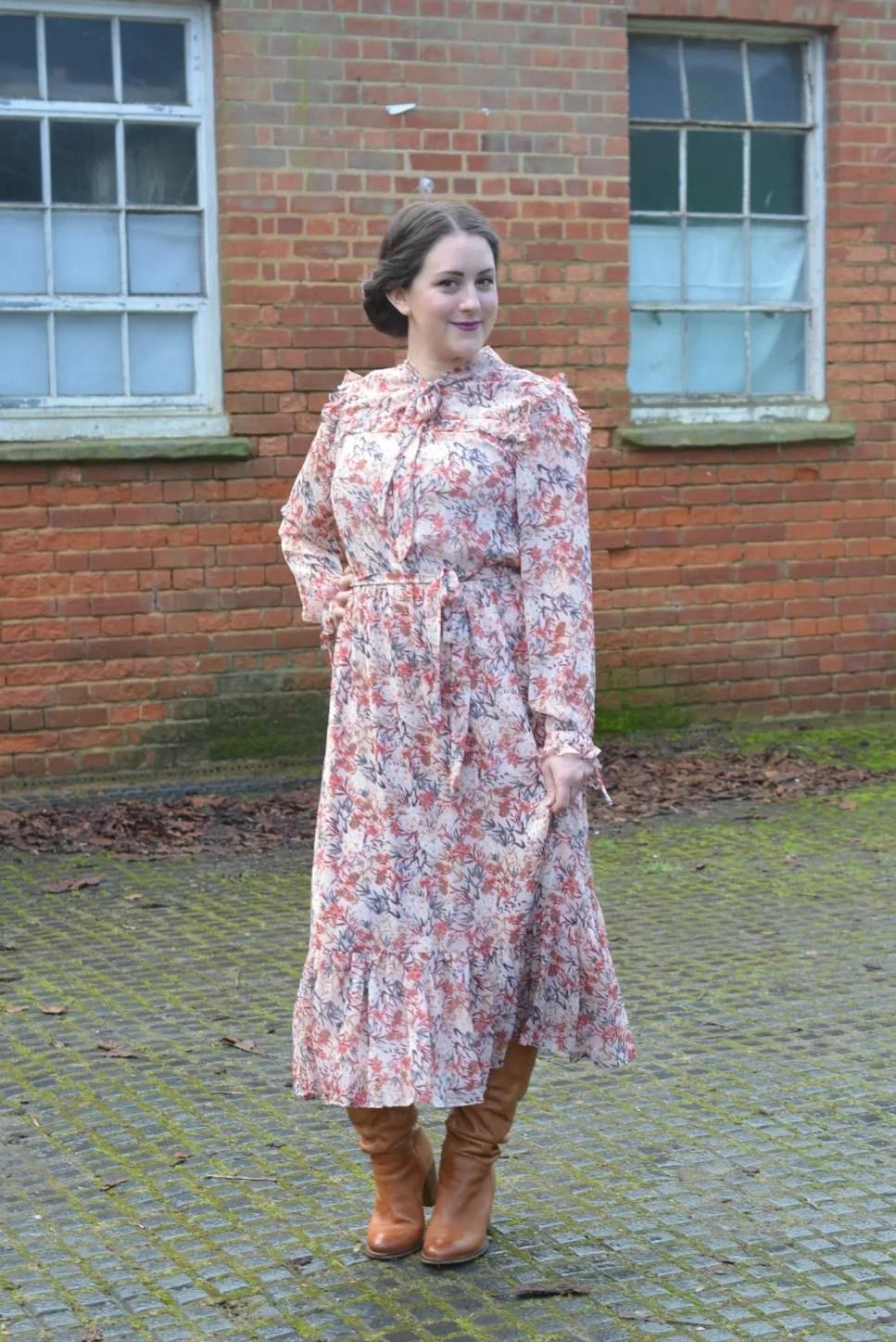 Laura Ashley Floral Ruffle Dress 4