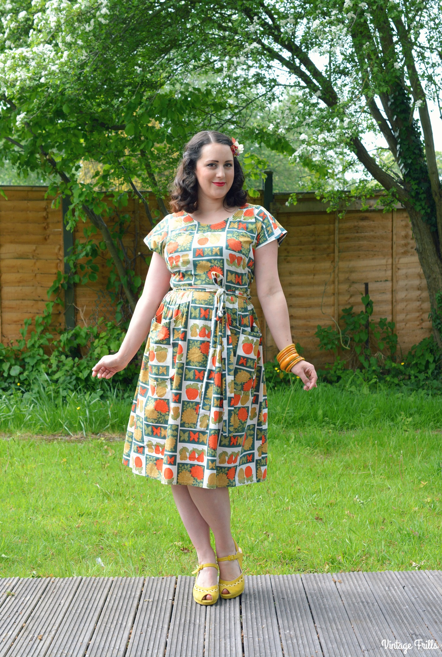 Vintage Favourites – Fruit Print Swirl Dress