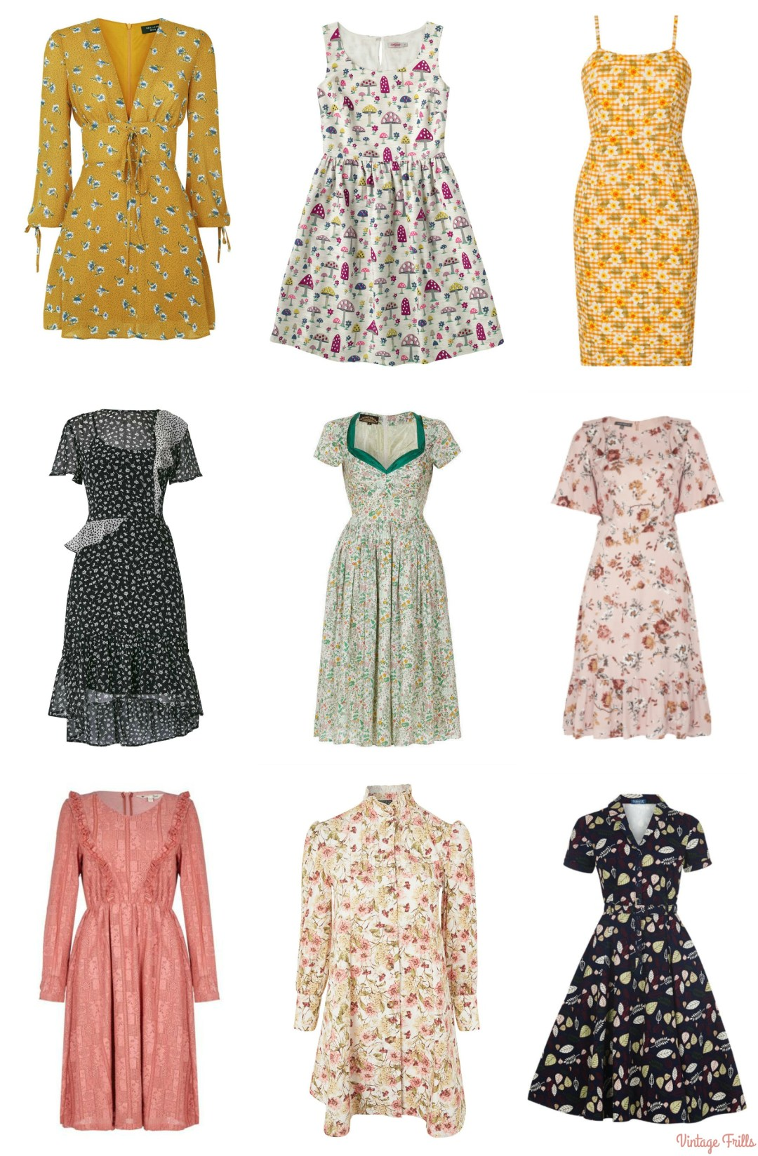Vintage Style Dresses for Autumn