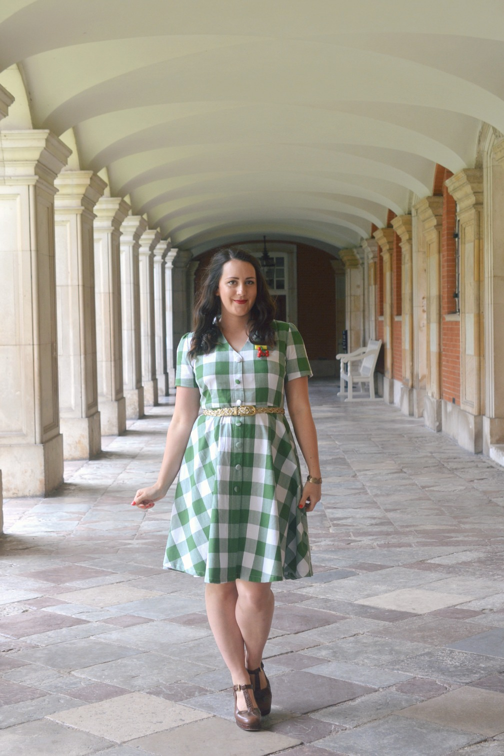 Dolly and Dotty Janie Vintage Style Green Gingham Dress Review