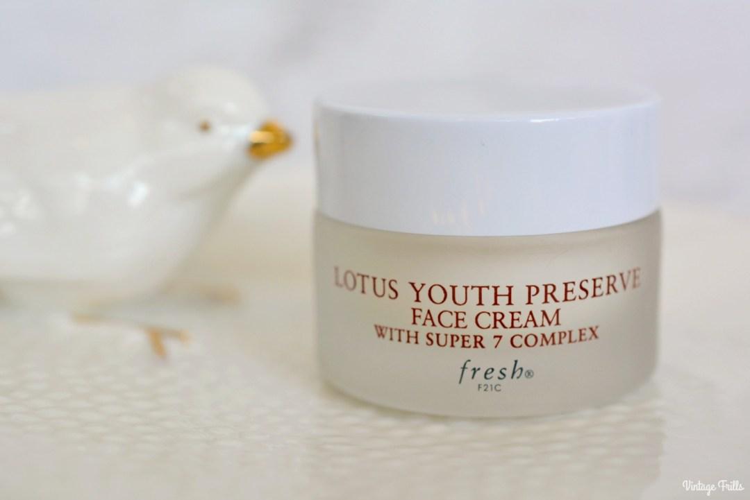February 2018 Beauty Favourites | Fresh Lotus Youth Preserve Face Cream