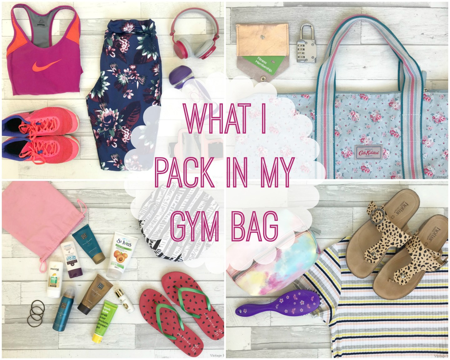 Health and Fitness – What I Pack in My Gym Bag