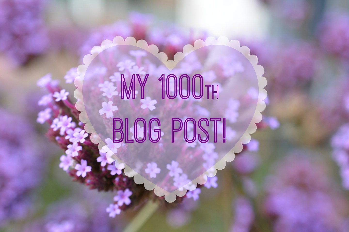 This is my 1000th Post and I have Big Plans for the Blog!
