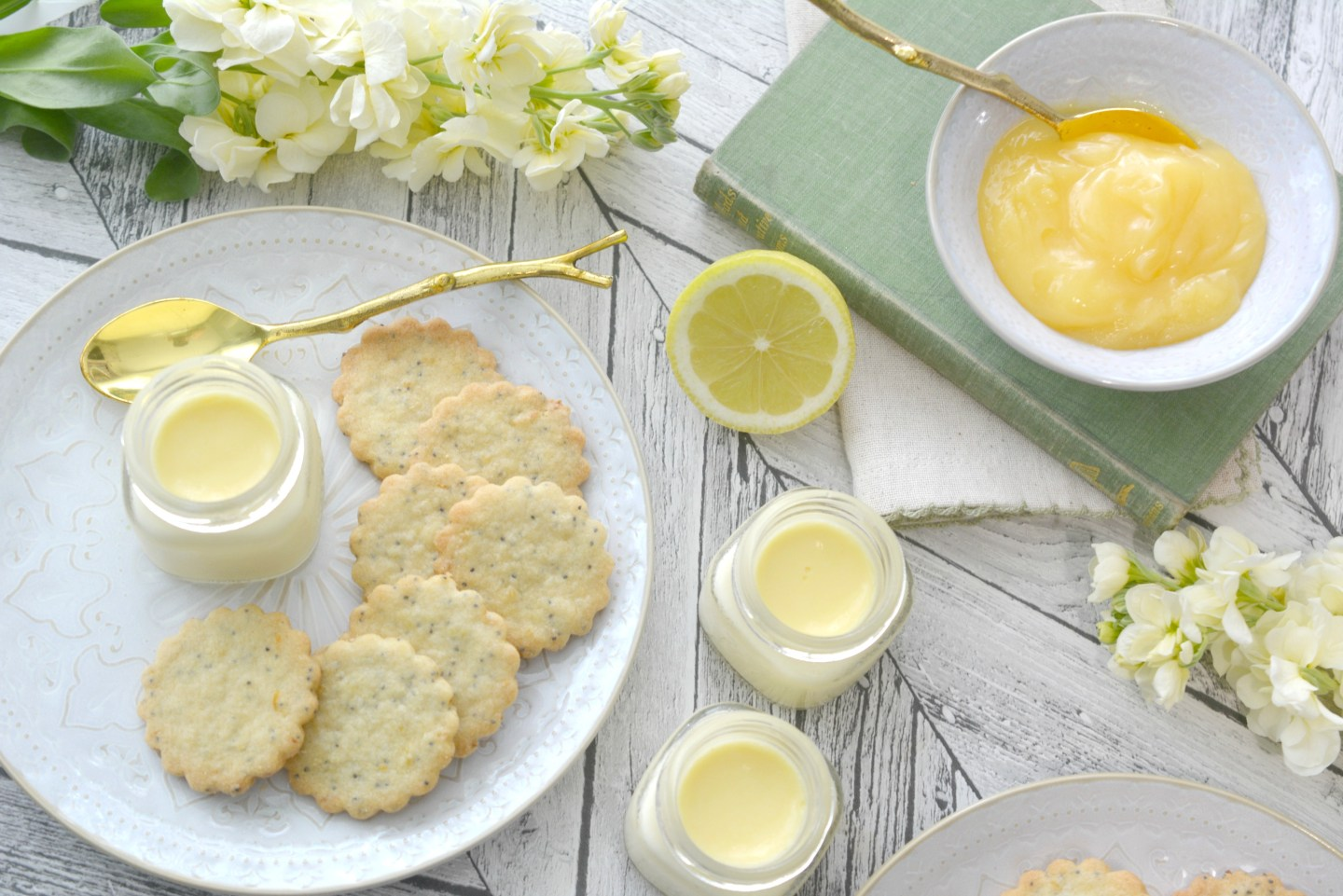 BAKING - Lemon and Poppy Seed Thins with Lemon Posset recipe